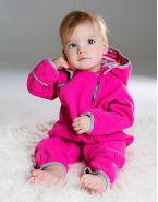 Комбинезон из флиса на хлопковой подкладке розовый