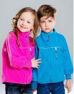 Куртка из флиса на хлопковой подкладке голубая