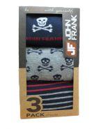 Набор носок John Frank сине-коричневые. 3 пары