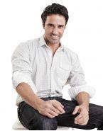 Модная мужская рубашка длинный рукав, белая