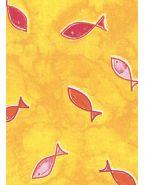 Подушки Theraline. Чехол 190 рыбы желтый