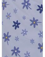 Подушки Theraline. Чехол 170 цветочки голубой