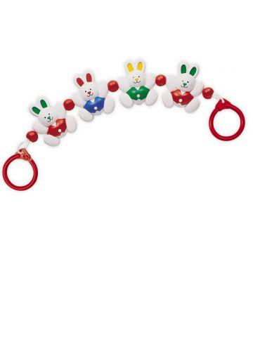 Развивающая игрушка Tolo (3 мес). Гирлянда кролики