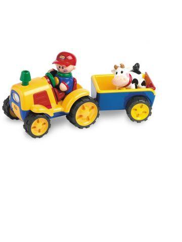 Развивающая игрушка Tolo (от 1 года). Серия ферма. Трактор с прицепом