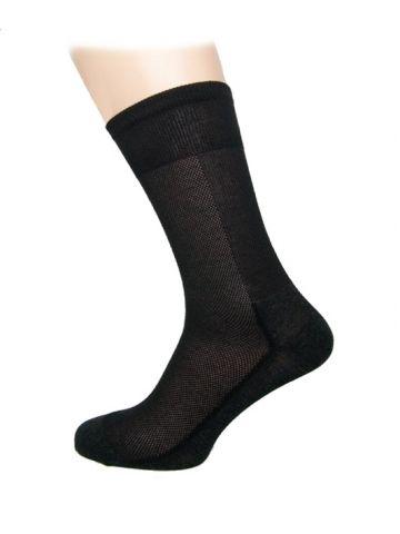 Носки медицинские с серебром 5%. Хлопок черные