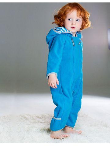 Комбинезон из флиса на хлопковой подкладке голубой
