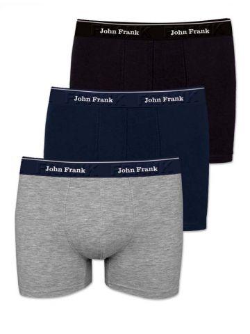 Трусы боксеры John Frank однотонные. JF3BMY04