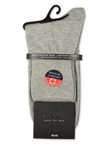 Медицинские носки с ослабленной резинкой серые