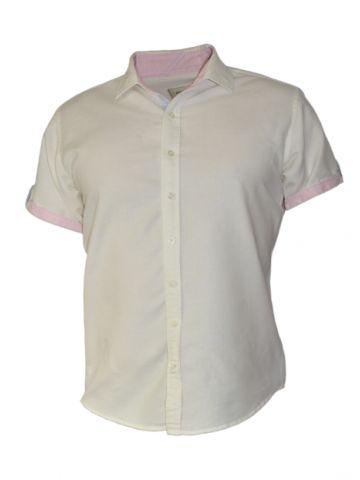 Модная мужская рубашка короткий рукав белая