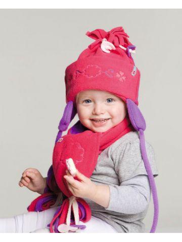 Шапочка и шарф. Коллекция Artisan Fringes. Розовый.