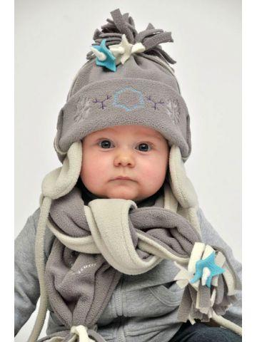 Шапочка и шарф.Коллекция Artisan Fringes. Серый кролик.
