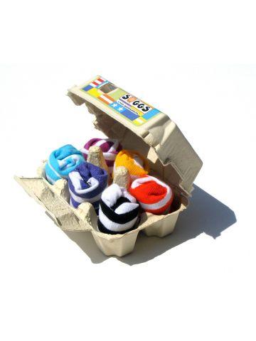Носки в полоску в яичной коробке. 6 пар.