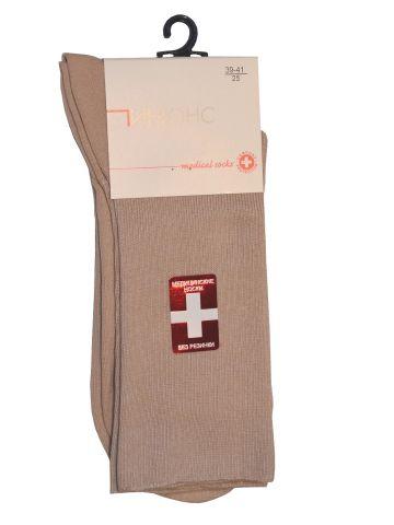 Медицинские носки, светло-бежевые.