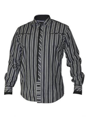 Модная мужская рубашка длинный рукав, элегантные полосы