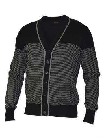 Пуловер серый на пуговицах