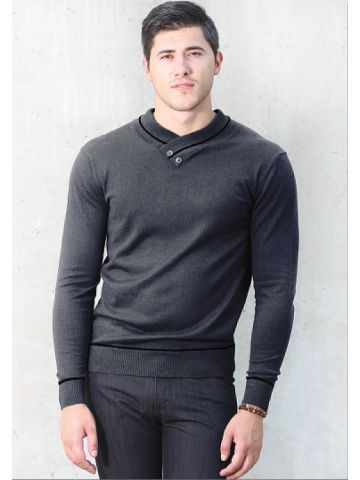 Пуловер мужской серый
