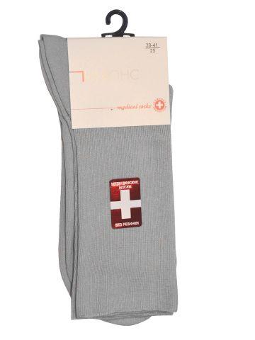 Медицинские носки хлопковые серые