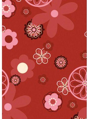 Подушки Theraline. Чехол 190 цветочки красный