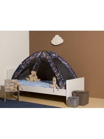 Тент на детскую кроватку, большой, камуфляж-синий