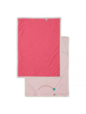 Детское одеяло флисовое. Розовое.