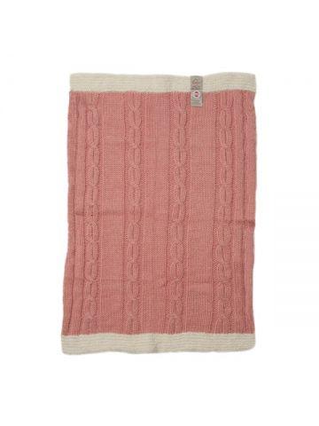 Детское одеяло вязаное. Розовое.