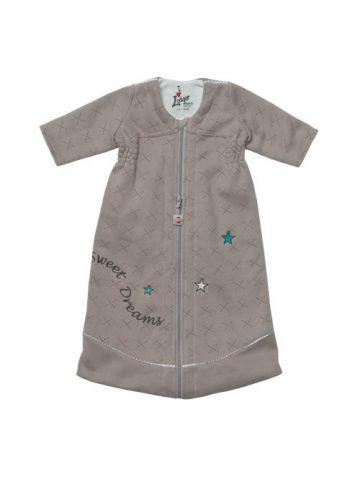 Спальный мешок для новорожденного длинный рукав. Бежевый.