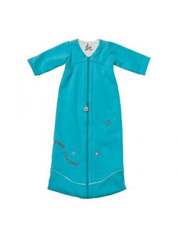 Спальный мешок для новорожденного длинный рукав. Голубой.