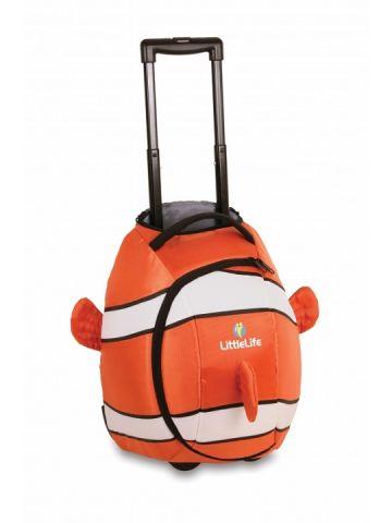 Детский чемодан на колесиках LittleLife Рыбка-клоун